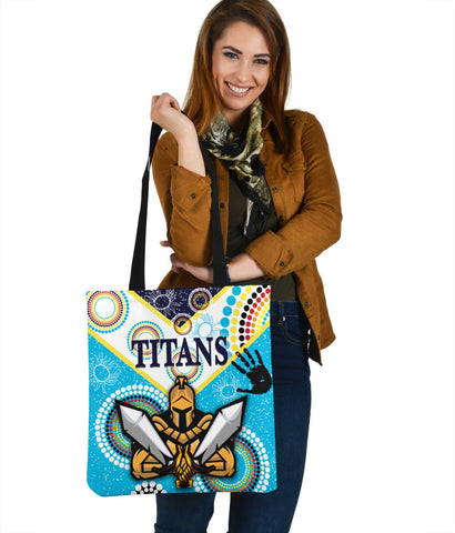 Image of Gold Coast Tote Bag Titans Gladiator Unique Indigenous