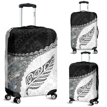 Load image into Gallery viewer, Paua Shell Maori Silver Fern Luggage Covers White K5