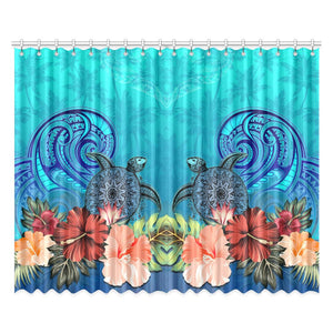 Window Curtain( Two Piece) Hibiscus Polynesian 2