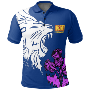 Scotland Polo Shirt - Scottish Lion
