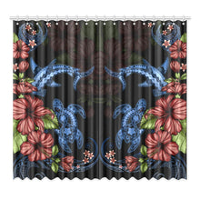 Load image into Gallery viewer, Turtle And Shark With Hibiscus Window Curtain ( Two Piece) TH5 - 1st New Zealand