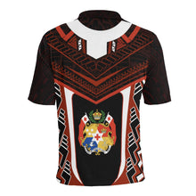 Load image into Gallery viewer, Tonga New Polynesian Style Polo - Red Color - Back
