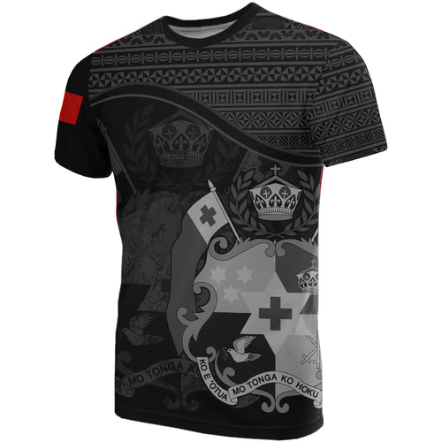 Tonga Black Coat Of Arms T-Shirt | High Quality | Hot Sale