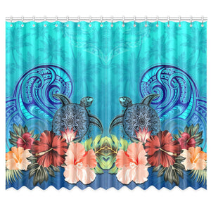 Window Curtain( Two Piece) Hibiscus Polynesian 2 TH5