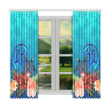 Load image into Gallery viewer, Window Curtain( Two Piece) Hibiscus Polynesian 2 TH5