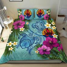 Load image into Gallery viewer, Tahiti Bedding Set - Polynesian Turtle Hibiscus And Plumeria  | Love The World