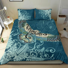Load image into Gallery viewer, New Zealand Bedding Set Silver Fern Polynesian Style Maori Kea Bird TH5 - rugbylife.co