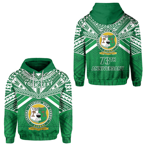 (Custom Personalised) Happy Anniversary Liahona Hoodie Tonga High School | Rugbylife.co