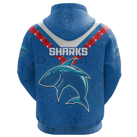 Image of (Custom Personalised) Cronulla Sharks Hoodie Anzac Country Style K36