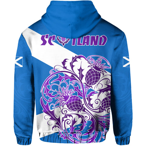 Scotland Rugby Hoodie Thistle Of Scottish Back | Rugbylife.co