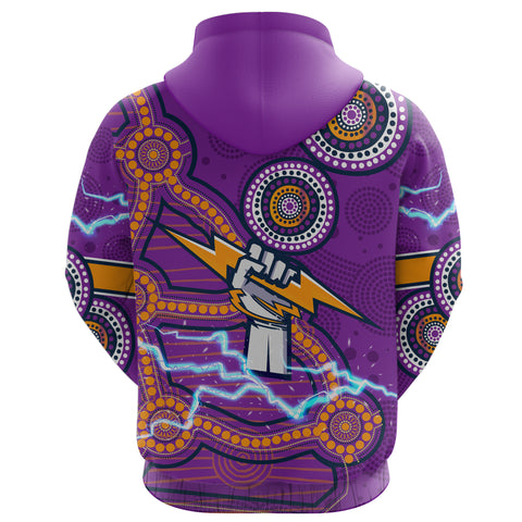 Storm Hoodie Melbourne Indigenous Thunder Back | Rugbylife.co