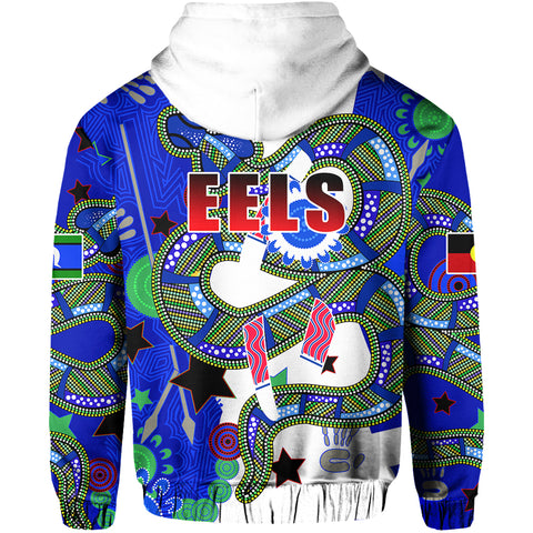 Eels Naidoc Week Color Hoodie Back | Rugbylife.co