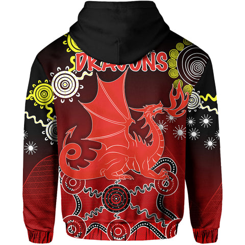 Image of Dragons Naidoc Week Hoodie Indigenous Back | Rugbylife.co