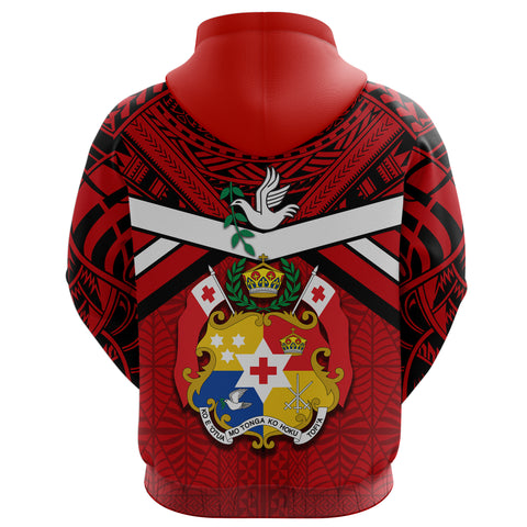 Image of (Custom Personalised) Tonga Rugby Hoodie - Mate Ma'a Tonga Back | Rugbylife.co