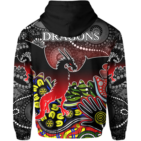 Image of Color Dragons Hoodie Naidoc Week Back | Rugbylife.co