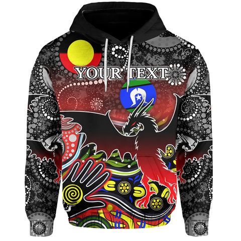 (Custom Personalised) Color Dragons Hoodie Naidoc Week Front | Rugbylife.co