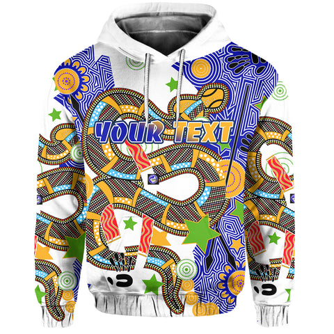 (Custom Personalised) Eels Indigenous Hoodie Mix Star | Rugbylife.co