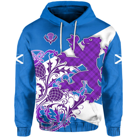 Image of (Custom Personalised) Scotland Rugby Hoodie Thistle Of Scottish K13