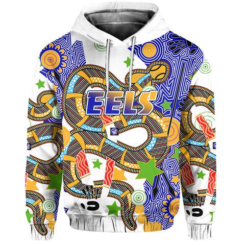 Eels Indigenous Hoodie Mix Star Front | Rugbylife.co