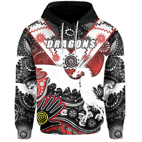 White Dragons Hoodie Indigenous Front | Rugbylife.co