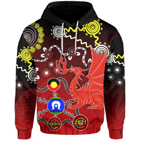 (Custom Personalised) Dragons Naidoc Week Hoodie Indigenous K13