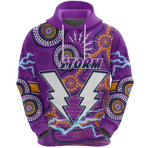 Image of Storm Hoodie Melbourne Indigenous Thunder Front | Rugbylife.co