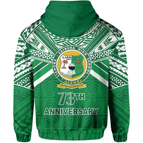 Happy Anniversary Liahona Hoodie Tonga High School Back | Rugbylife.co