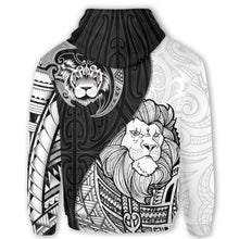 Load image into Gallery viewer, Lion Maori Tattoo Pullover Hoodie K5 - 1st New Zealand