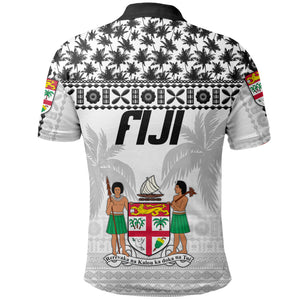 Fiji Polo Shirt Tapa Pattern - Rugby Style TH5