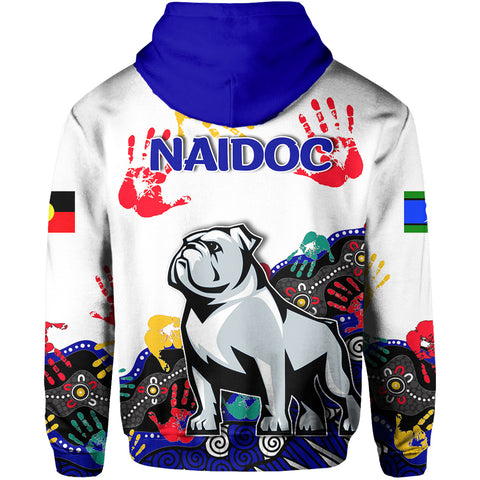 Image of Naidoc Bulldogs All Over Hoodie Aboriginal Hand TH4
