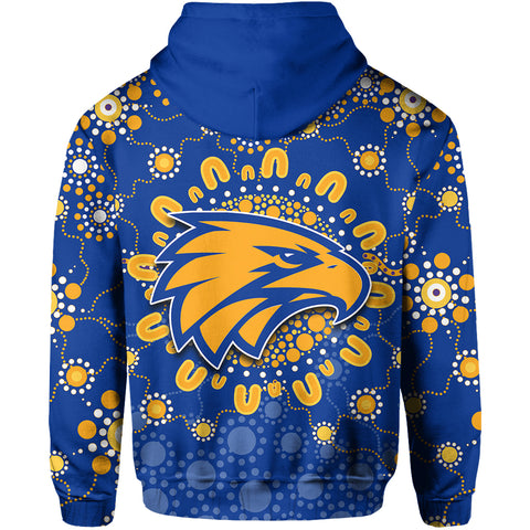 West Coast Eagles Hoodie Indigenous Style TH4
