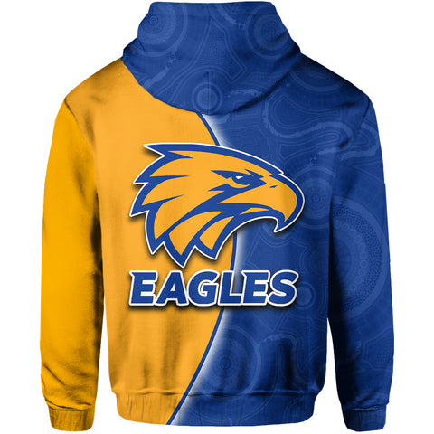 Image of West Coast Eagles Hoodie Aboriginal Patterns Half Style TH4