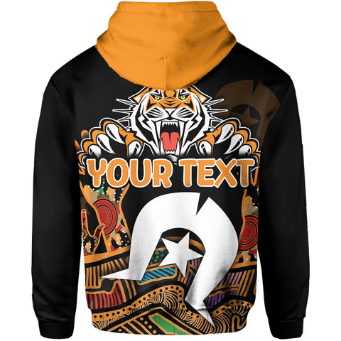 Image of (Custom Personalised)  Naidoc Wests Tigers Hoodie Torres Strait Islander K6