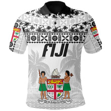 Load image into Gallery viewer, Fiji Polo Shirt Tapa Pattern - Rugby Style