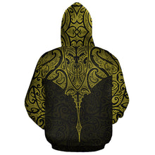 Load image into Gallery viewer, New Zealand Hoodie Manta Maori Ta Moko Yellow TH5 - 1st New Zealand