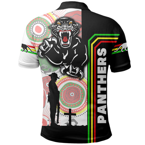 Image of Penrith Panthers Polo Shirt Anzac Day Power Style  | rugbylife.co