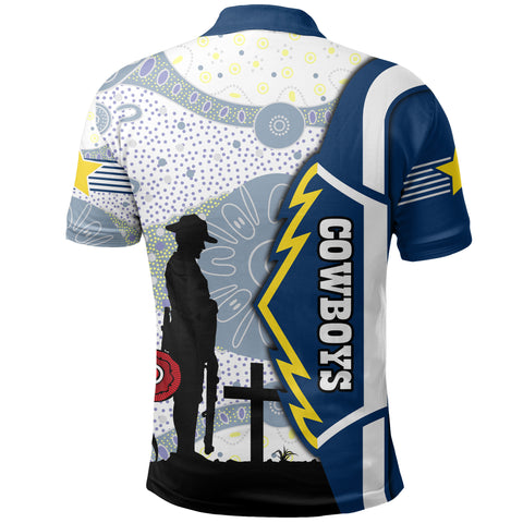 Image of Cowboys Polo Shirt North Aboriginal Anzac Day | Rugbylife.co