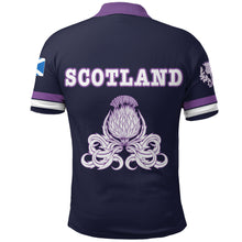 Load image into Gallery viewer, Scotland Rugby Polo Shirt Lion Rampant with Thistle back