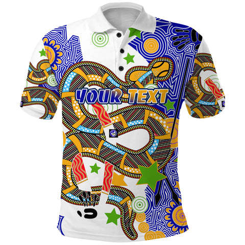 Image of (Custom Personalised) Eels Indigenous Polo Shirt Mix Star | Rugbylife.co
