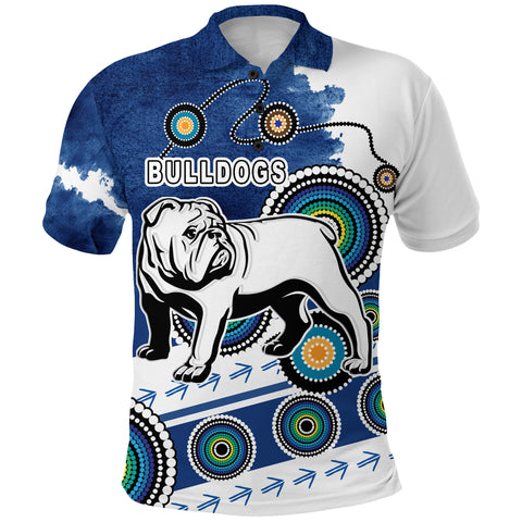 Bulldogs Polo Shirt Special Indigenous Front | Rugbylife.co