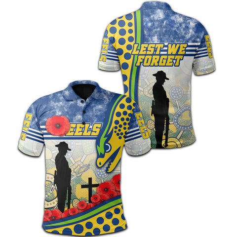 Image of Eels Rugby Polo Shirt Indigenous Anzac Day | Rugbylife.co