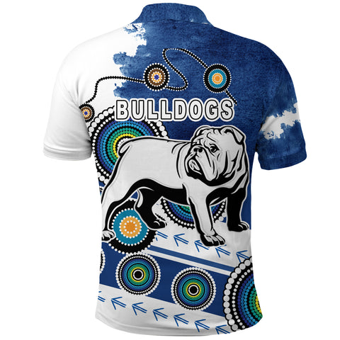 Bulldogs Polo Shirt Special Indigenous Back | Rugbylife.co