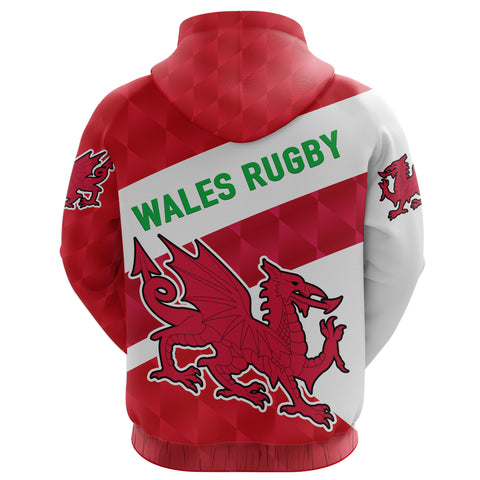 Wales Rugby Hoodie Sporty Style K8