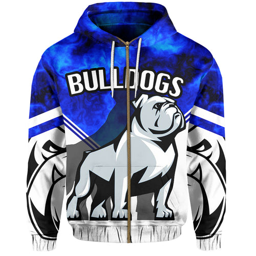 Bulldogs All Over Zip-Hoodie