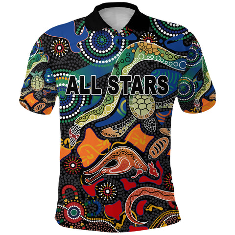 Image of Indigenous Polo Shirt All Stars Pride Version