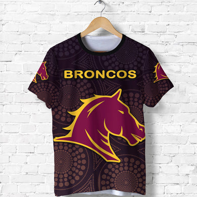 Brisbane T Shirt Broncos Simple Indigenous