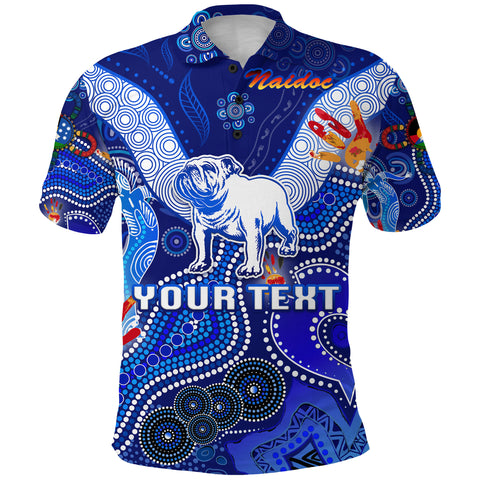 Image of (Custom Personalised) Canterbury-Bankstown Bulldogs Polo Shirt Naidoc Heal Country! Heal Our Nation K8