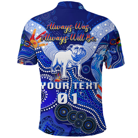 Image of (Custom Personalised) Canterbury-Bankstown Bulldogs Polo Shirt Naidoc Heal Country! Heal Our Nation, Custom Text And Number K8