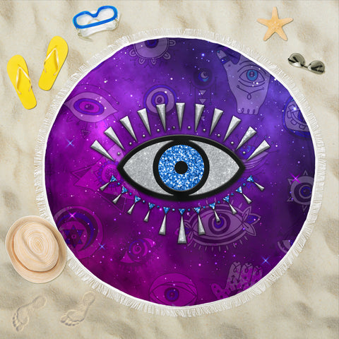 Evil Eye Beach Blanket Universe Style