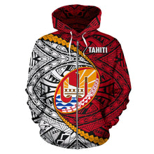 Load image into Gallery viewer, Tahiti Polynesian Rugby Zip Hoodie | rugbylife.co